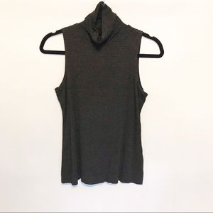 Yansi Fugel | Striped Sleeveless Turtleneck medium